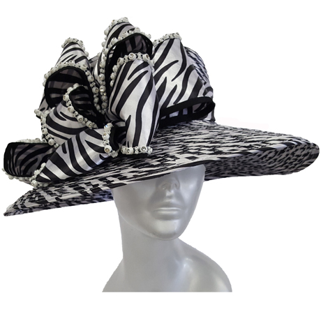 Swan Hats SW9035-Black With White