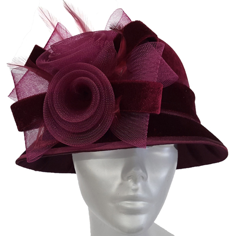 Swan Hats SW9013-Burgundy
