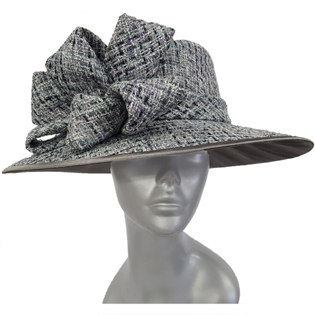 Swan Hats SW9008-Black With Gray