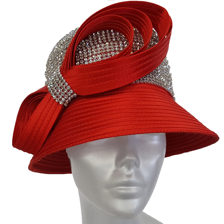 Swan Hats 6676-Red