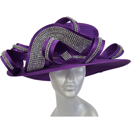 Swan Hats 5489-Purple