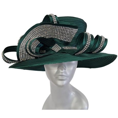 Swan Hats 5489-Emerald