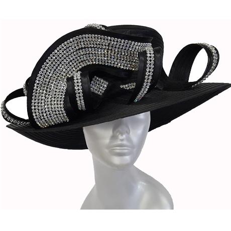 Swan Hats 5489-Black