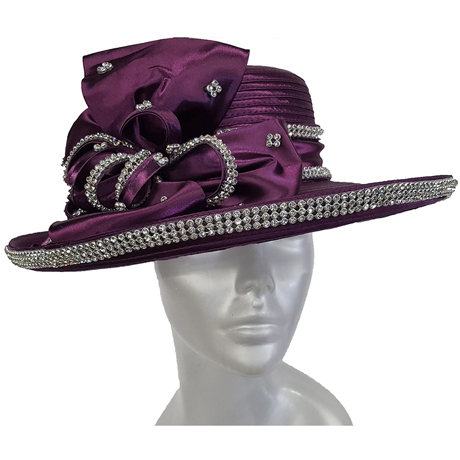 Swan Hats 2176-Purple