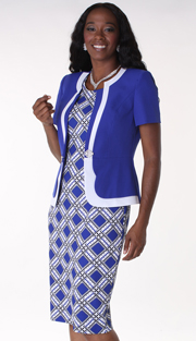 Tally Taylor 9399-ROY ( 2pc PeachSkin Sunday Church Dress With Rhinestones Buckle )
