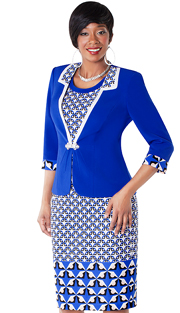 Tally Taylor 9430-RP ( 2pc Print Dress With Jacket And Rhinestone Clasp )