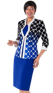 Tally Taylor 9426-RW ( 2pc Solid Color Dress And Gradiant Print Jacket And Rhinestone Buckle )