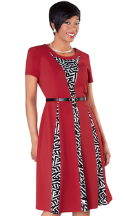 Tally Taylor 9421-TP ( 1pc Fit & Flare Dress With Graphic Print Detail )