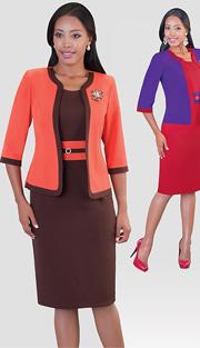 Tally Taylor 9352 ( 2pc Renova Women Church Dress With Rhinestone On waist )