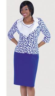 Tally Taylor 9342-OC ( 2pc PeachSkin Sunday Dress For Church )