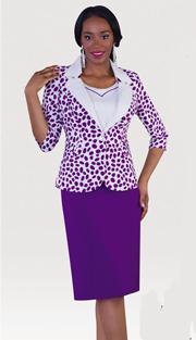 Tally Taylor 9342-PU ( 2pc PeachSkin Sunday Dress For Church )