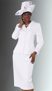 Tally Taylor 4535  ( 2pc PeachSkin  Womens Sunday Suit For Church With Rhinestones )