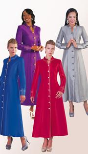 Tally Taylor 4445-B  ( 1pc Silk Look Women Sunday Robe With Rhinestones )