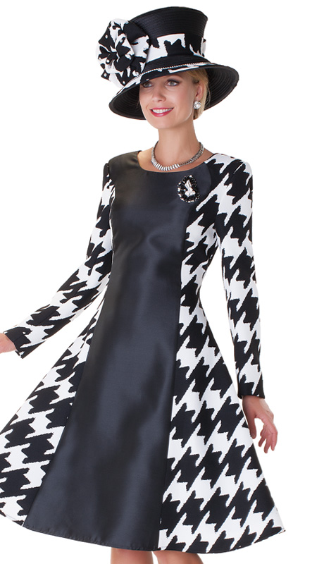 Tally Taylor 4538 Blk 1pc Ladies Church Dress With