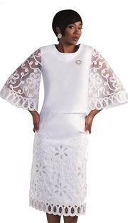 Tally Taylor 4592-NA-IH ( 1pc Multi Polka Dots Church Dress With Tailored Collar And Thress Quarter Sleeves )