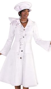 Tally Taylor 4497-MUS ( 1pc Womens Long Church Dress With Rhinestone Brooch Silk Look Fabric )
