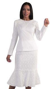 Tally Taylor 4574-OR ( 2pc Two Tone Church  Dress Suit With Beautiful Bow On Jacket  )