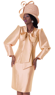 Tally Taylor 4597-IH ( 1pc Dress With Beautiful Bow Tie And Puffed Sleeves )