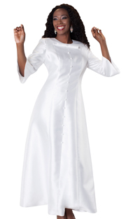 Tally Taylor 4576-WH ( 1pc Long Dress With Detachable Bow )