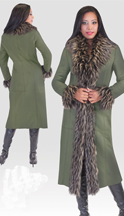 Tally Taylor 2001 ( 1pc Womens Long Coat With Fur Trim )