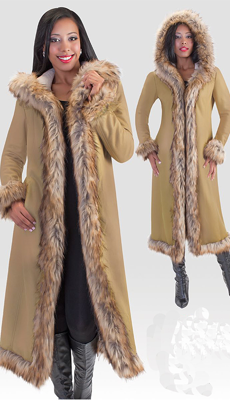 Tally Taylor 2004 ( 1pc Womens Long Coat With Fur Trim )
