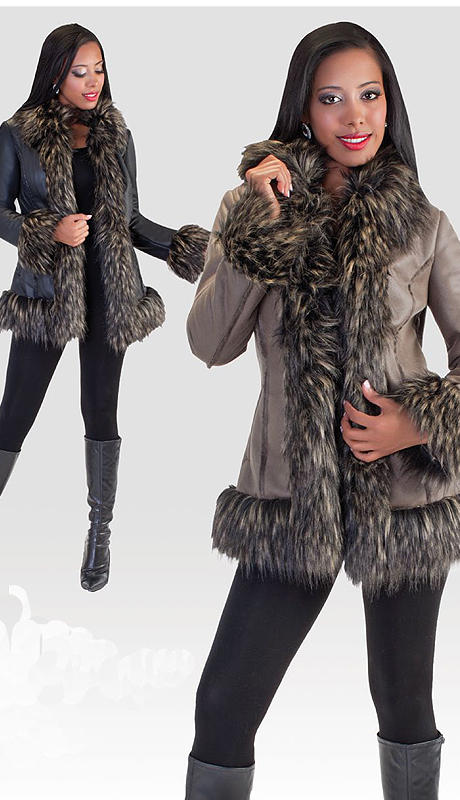 Tally Taylor 2002 ( 1pc Womens Coat With Fur Trim )