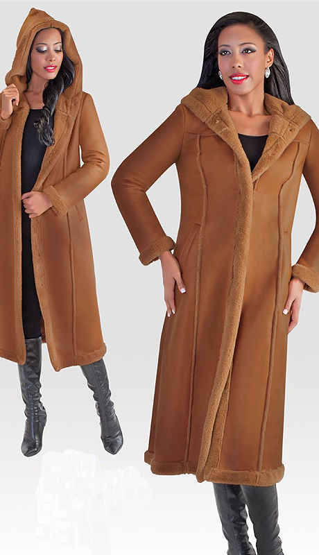 Tally Taylor 2003 ( 1pc Womens Long Coat With Fur Trim )