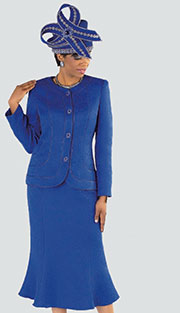 Tally Taylor 4520 ( 2pc Jacquard Ladies Church Suit With Rhinestone Buttons And Light Floral Pattern Jacket And Skirt )