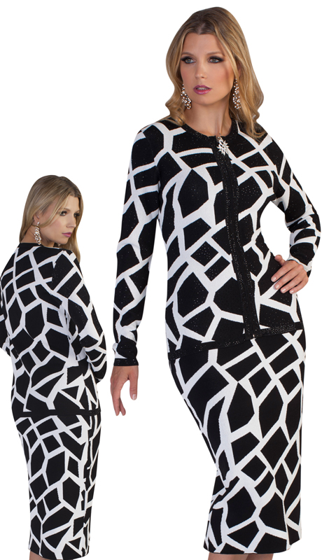 Kayla By Tally Taylor 5196 ( 2pc First Ladies Exclusive Knit Suit With Nature Inspired Design )