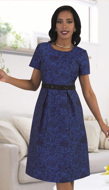 Chancelle 9483 ( 1pc Ladies Novelty Dress In Subtle Print )