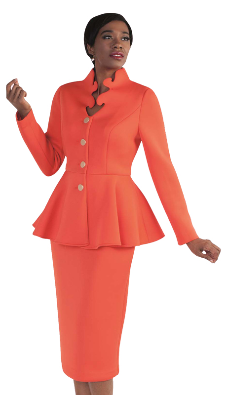 Tally Taylor 4578-SA ( 1pc Exclusive Scuba Fabric Church Suit With Intricate Neckline & Peplum Jacket For The First Lady )
