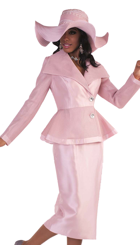 Tally Taylor 4595-R ( 1pc Skirt Suit With Mesh Details on Jacket And Jeweled Buttons )