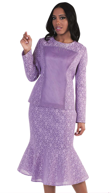 Tally Taylor 4577-LA ( 2pc First Lady Skirt Suit Exclusive Lace And Mermaid Skirt )