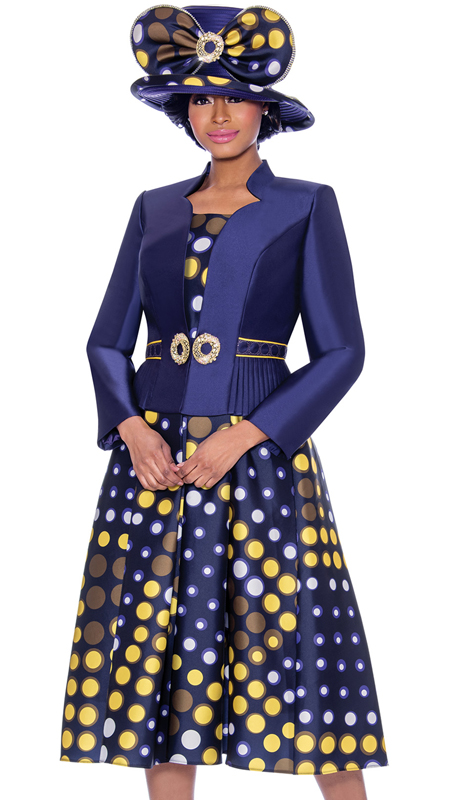 Terramina 7788-PP ( 2pc Silk Look First Lady Jacket Dress )