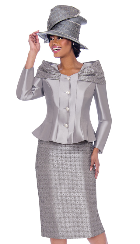 Terramina 7792-SI ( 2pc Silk Look With Novelty Suit And Jacket )