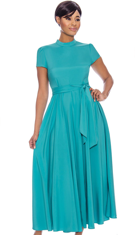 Terramina 7758-GN-CO ( 1pc Belted Dress )