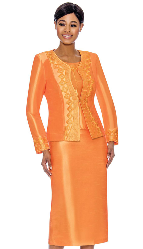 Terramina 7755-OR ( 3pc Skirt Suit )