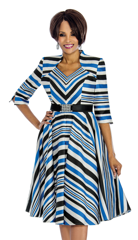 Terramina 7608-R ( 1pc Dress For Church In Standout Pattern )