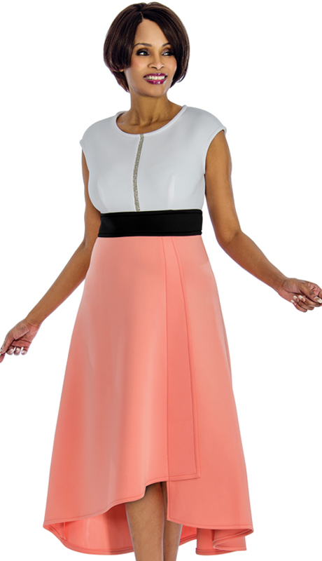 Terramina 7652 ( 1pc Peachskin Dress For Church )