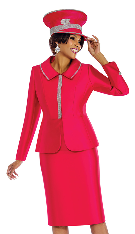 Terramina 7651-HP ( 2pc Silk Suit For Church With Rhinestone Trims )