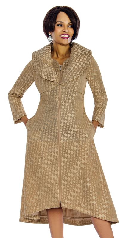 Terramina 7655 ( 1pc Novelty Church Dress With Diamond Patterning And Zipper Front )