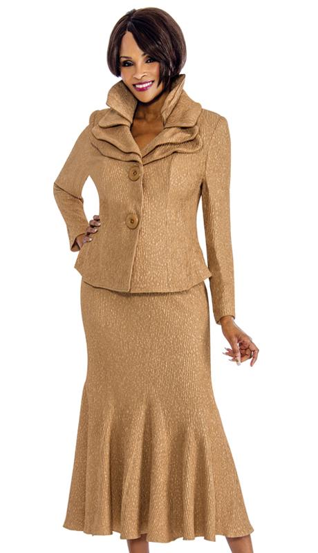 Terramina 7656-C ( 2pc Knit Womens Suit With Unique Pattern Design )