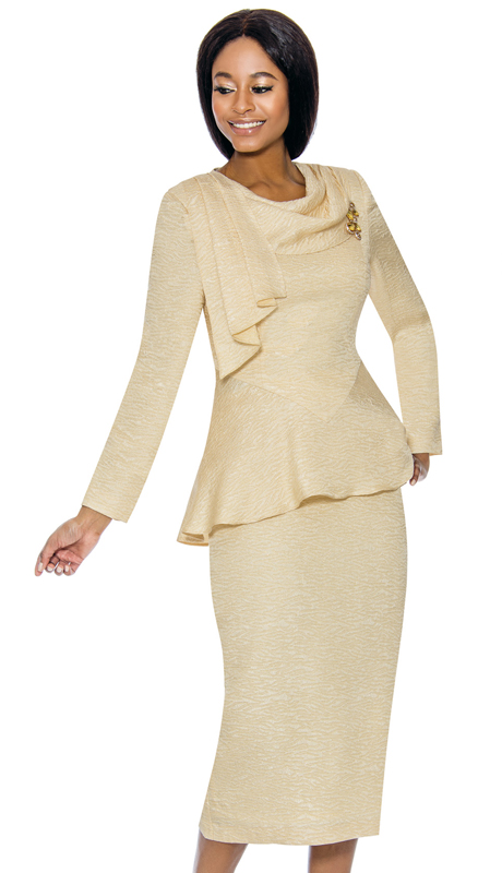 Terramina 7738-CH-CO ( 2pc Novelty Ladies Church Suit )