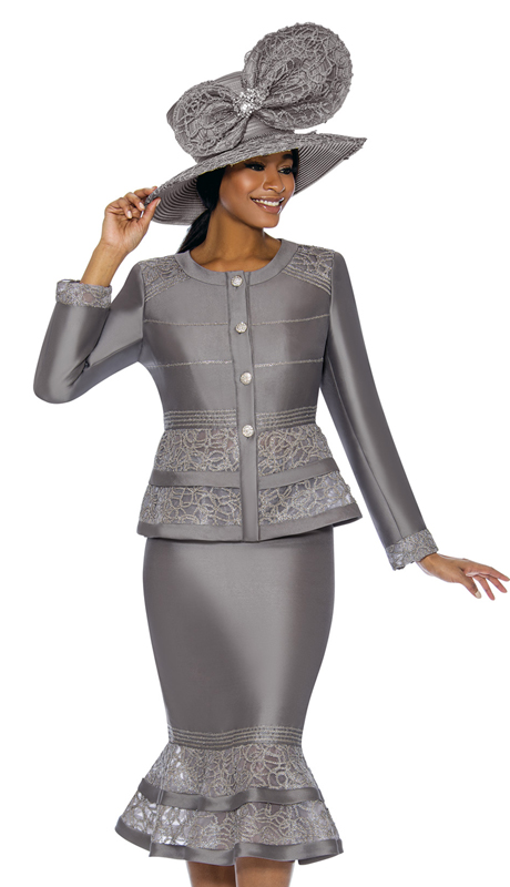 Terramina 7737-PL ( 2pc Novelty Ladies Church Suit )