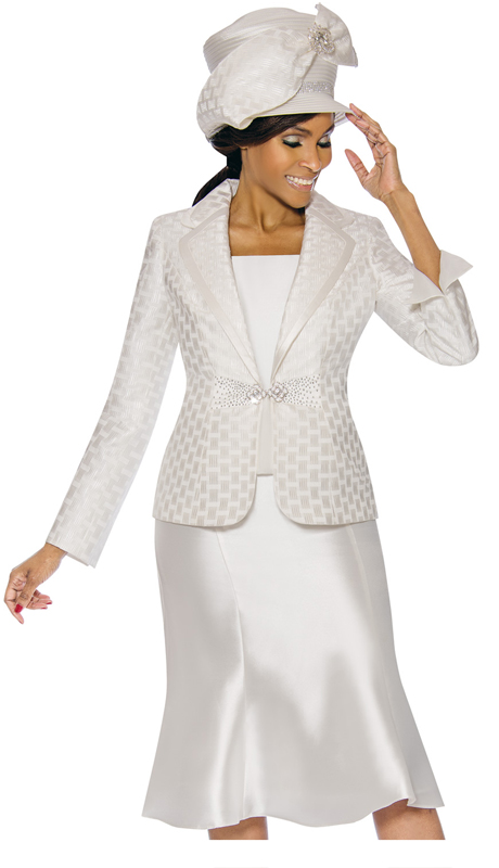 Terramina 7734-OW ( 3pc Silk Look With Novelty Church Suit )