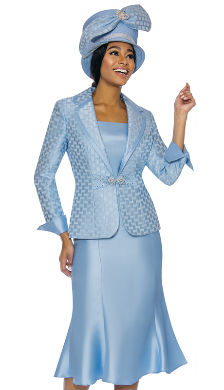 Terramina 7734-IB ( 3pc Silk Look With Novelty Church Suit )