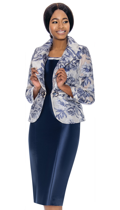 Terramina 7731-NA ( 2pc Silk Look With Novelty Church Dress And Jacket )