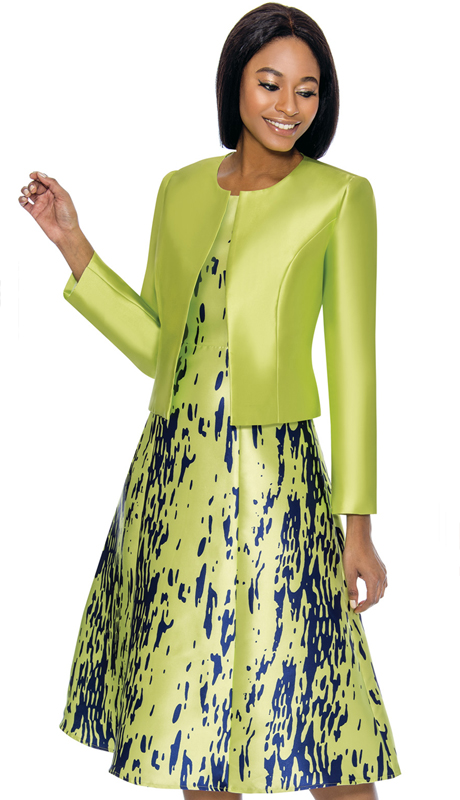 Terramina 7750-LI ( 2pc Silk Look Church Dress And Jacket )