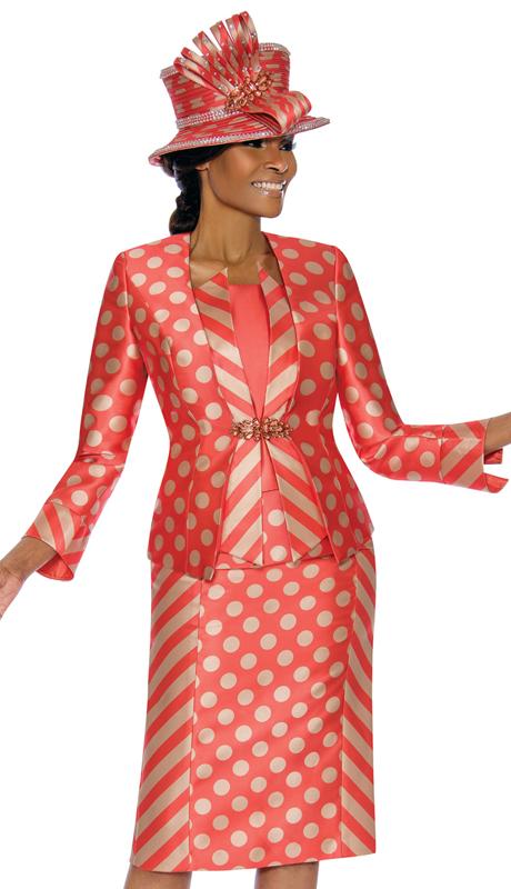 Terramina 7673-CG ( 3pc Silk Look Womens Sunday Suit )