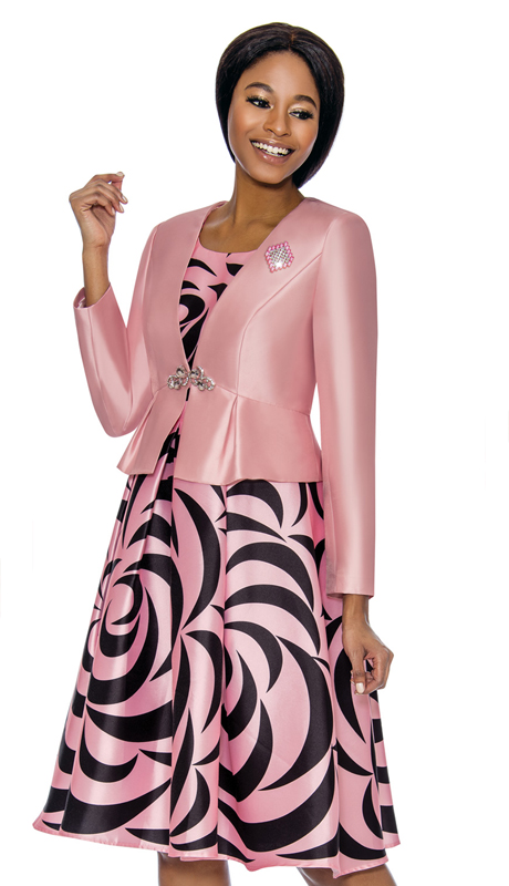 Terramina 7672-PI ( 2pc Silk Look With Novelty Church Dress And Jacket )